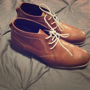 Tan/Brown George Dress shoes size 12 never worn